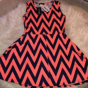 zig zag summer tank top dress